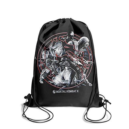 Mortal-Kombat- Drawstring Backpack Adjustable Gym Sack Bag ()