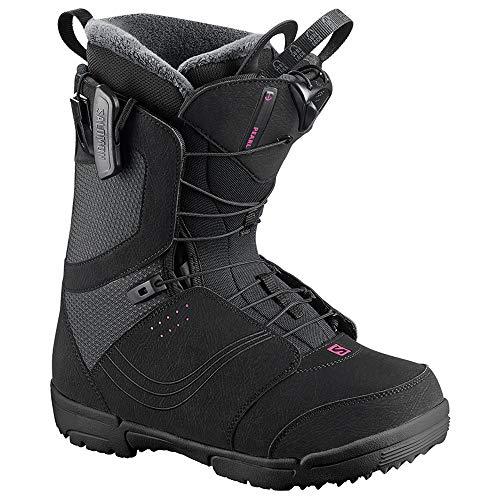 Salomon Women's Pearl Snowboard Boots Black 2019 (7.5) (Best Womens Snowboard Boots 2019)