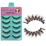 only you 5 Pairs Long Thick Makeup False Eyelashes Fake Eye Lash Extension Handmade Soft-L27