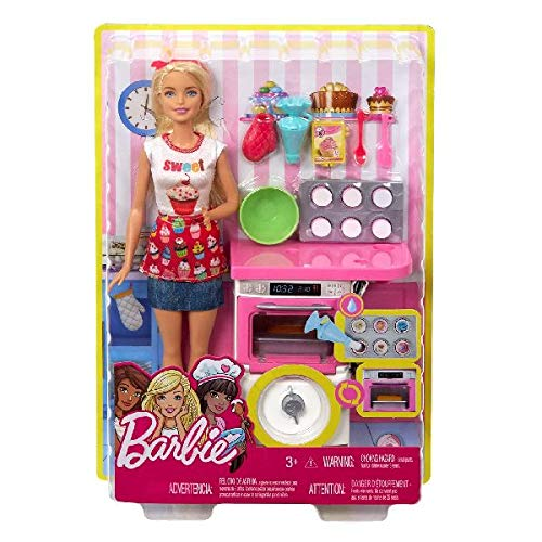 Barbie Bakery Chef Doll and Playset, Blonde -