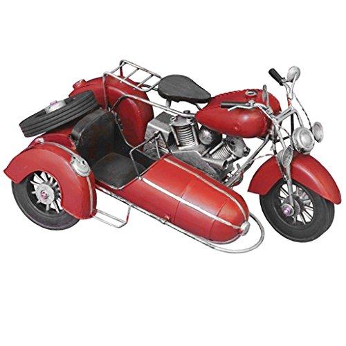 Perfk ヴィンテージ オートバイモデル 卓上 置物 ホーム インテリア 子供向け おもちゃ カメラ 小道具 全3色 - 赤