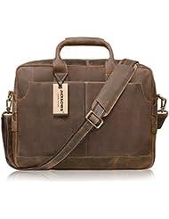 Jack&Chris New Genuine Leather Briefcase Messenger Bag Laptop Bag, NM1864