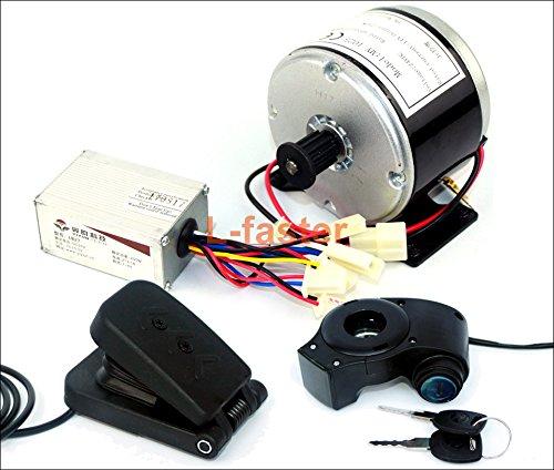 24ボルト250ワット電動スクーターモーター電動バイクベルト駆動my1016高速ベルトモータ250ワット電動スクーター変換キット [並行輸入品] B07BKWX3KZpedal kit