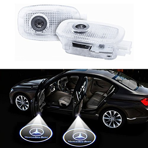 Klinee Easy Installation Car Door LED Logo Projector Ghost Shadow Lights Symbol Emblem Courtesy Step Lights