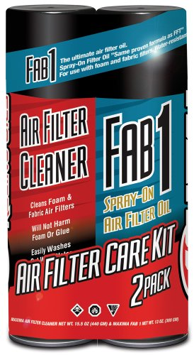 Maxima 70-799202-2PK Air Filter Maintenance Aerosol Combo Kit, (Pack of 2) -