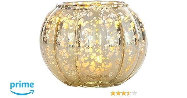 Amazon.com: Luna Bazaar Small Vintage Mercury Glass Vase or Candle ...