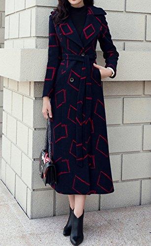Da Cappotto Camminatore Cachemire Giacca Del A Lungo Di Vestito Nero Colletto Trincea Lana Vento Moda Donna Tp6qnwrTS