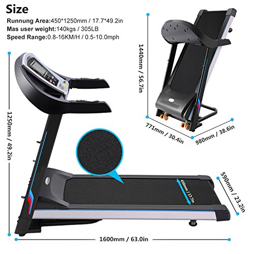 Life Fitness Treadmill Belt Size: Benlet 3.0HP Electric Treadmill With Phone & Cupholder