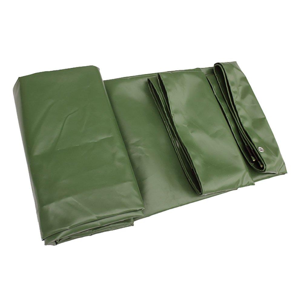 YXYX Doppelseitige Plane Wasserdichte Plane Doppelseitige Heavy Duty große Zelt Markise Sun Shade Picknick-Matte Tarp Boden Blatt Covers Maschine Angeln Visor Rainproof Tuch - Grün 650G   M² (größe   3  4m) b966ab