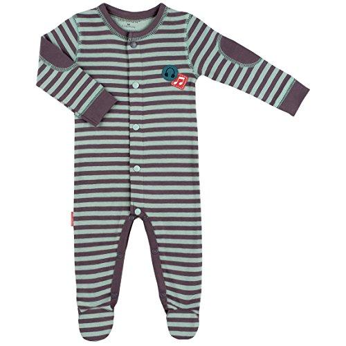 Kushies Rock-A-Bye Stripe Sleeper (Newborn, Seafoam Stripe)