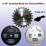 Pack of 3 Assorted Metal/wood/tile 4-1/2' 4.5 inch Circular Saw...