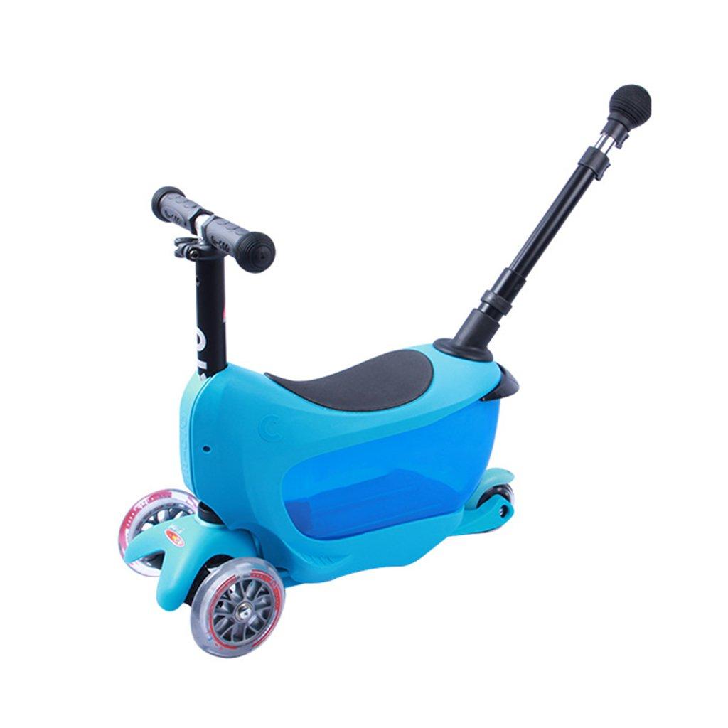 65%OFF【送料無料】 スクーター折りたたみ子供の漫画多機能スライド自動車幼児モバイルハンドプッシュ音楽フラッシュPU車は3-10歳のミニスーツケースを座ることができます B07FYKCM2Y B07FYKCM2Y Blue Blue Blue Blue, ボヌール:1bb1eeb7 --- a0267596.xsph.ru