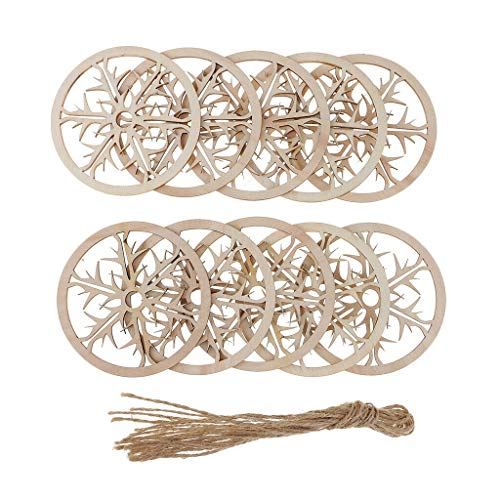 10 Pcs 8 cm Round Unfinished Wooden Board for Christmas Festival Decoration | Style - - Adj Halter