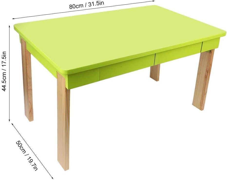 Mesa Plegable de Madera para Niños con 2 Cajones, Mesa de Juego ...