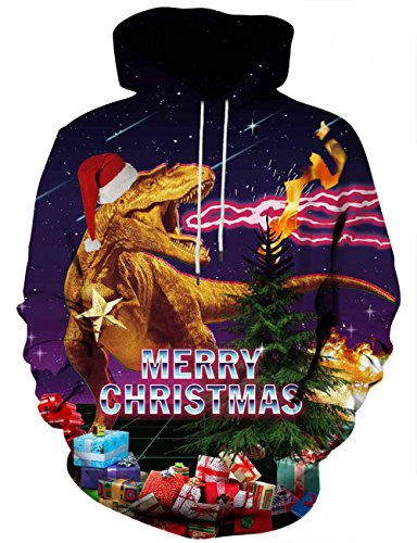 Hooded Reversible Sweater - Hgvoetty Unisex Long Sleeve Casual Oversized Pullover Christmas Hoodies Sweatshirts Printed Christmas Hoodies Large