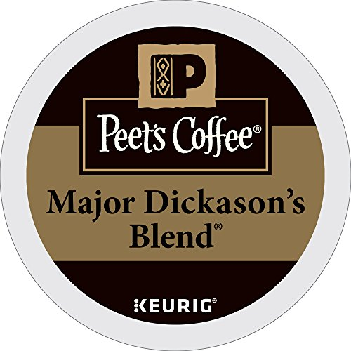 Peet's Coffee Major Dickason's Mix Dark Roast 32ct K-Cup Packs