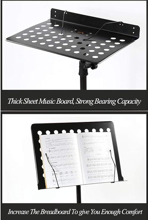Teléfono Atril Abierto/Cerrado Espesado Guitarra Guzheng Tambor Violín Música Soporte De Partitura Musical De Piano En El Atril con Partitura Clip + Bolsa De Almacenamiento LCSHAN: Amazon.es: Hogar