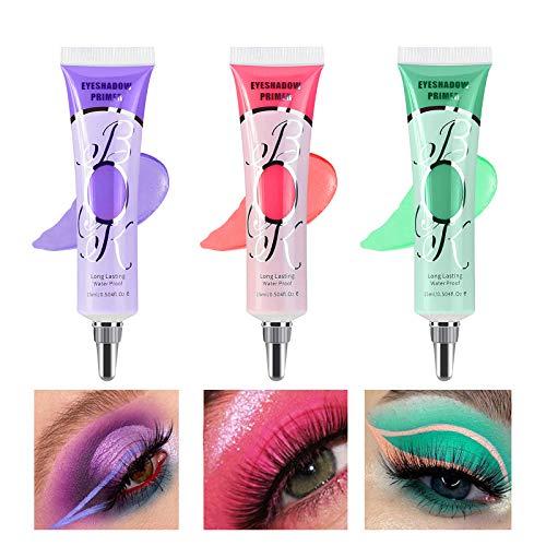 【3 Pack】Erinde Eyeshadow Makeup Primer Liquid Eyeshadow Primer Waterproof & Smudgeproof & Long Lasting Matte Eyeshadow…