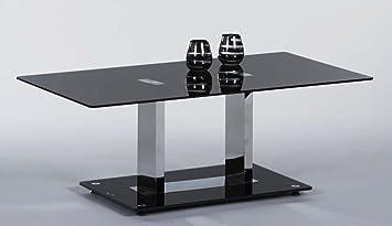Stella Trading Couchtisch Black 110 X 60 Cm Glas Schwarzchrom