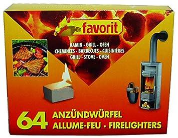 Unbekannt Favorit - Pastillas en dados para barbacoa 1249. Para chimenea y horno. 64