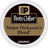 Peet's Coffee, Major Dickason's Blend, Dark Roast, K-Cup Pack (32 ct), Single Cup Coffee Pods, Rich, Smooth & Complex Dark Roast Blend, with Full Bodied & Layered Flavor; for All Keurig K-Cup Brewers