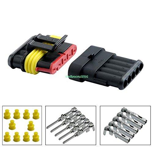 Auto 5/pin way impermeabile sigillato cavo elettrico auto connettore spina 5/set