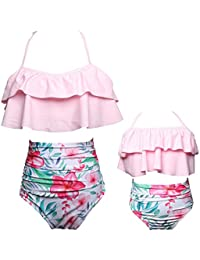 Girls Swimsuit Two Pieces Bikini Set Ruffle Falbala...