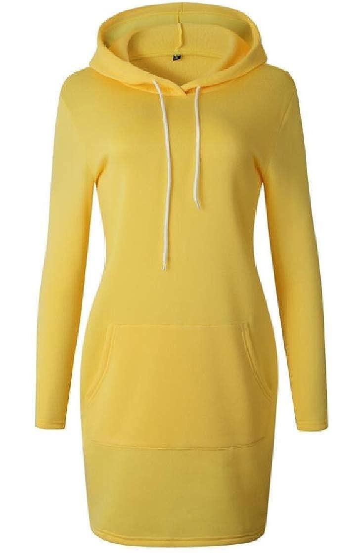 YYear Womens Stylish Drawstring Pocket Hoodie Pullover Sweatshirt