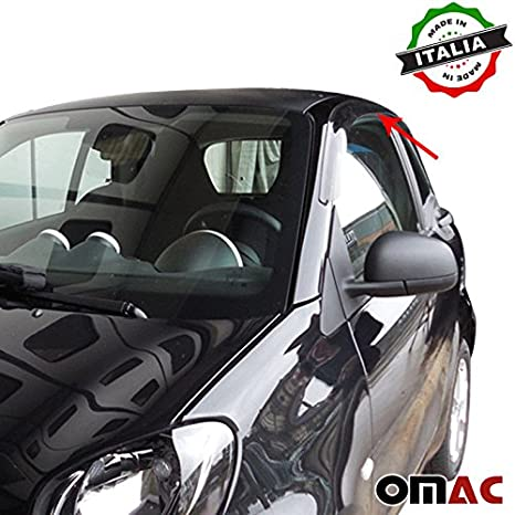 Acouto 4pcs Universal Car Body Spoiler Frontsto/ßstange Lip Splitter Fins Trim Schwarz ist nicht gemalt