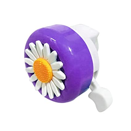 LYCOS3 Mini Cascabel de plástico para Bicicleta, Timbre de Bicicleta Divertido Margarita Flor niño niña Anillo de Ciclismo Alarma para bocina, Purple White: Amazon.es: Deportes y aire libre