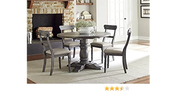 Amazon.com - Muses Round Dining Complete Table Dove Grey - Tables
