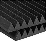 Auralex Studiofoam Wedges 2 Inches Thick and 2 Feet by 4 Feet Acoustic Absorption Panels, Charcoal (12 Panels)