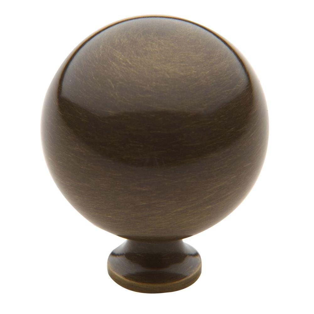 Baldwin 4968050 Round Cabinet Knob Antique Brass