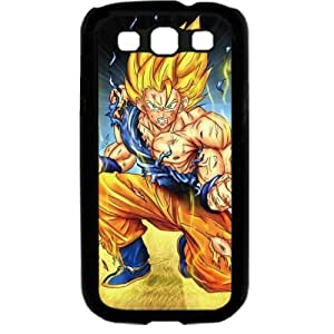 Dragon Ball Manga Comic Slim SON GOKU Samsung Galaxy S3 SIII I9300 TPU Soft Black or White case (Black)