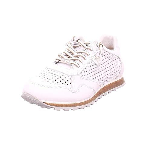 Cetti - Zapatillas de Piel Lisa para Mujer Blanco Blanco 44: Amazon.es: Zapatos y complementos
