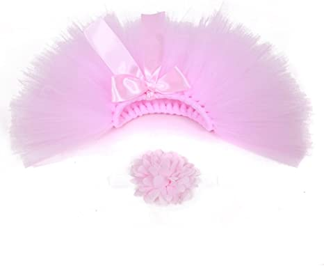 Pink Musuntas Baby Prop Fotografie Baby Kost/üm,Foto Fotografie Outfits Baby Kost/üm T/üt/ü Rock Pettiskirt M/ädchen Blumen Stirnband