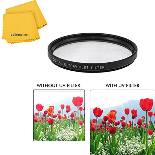 82mm UV Protective Multi-Coated All-Purpose Filter for Sigma 100-300mm F//4.0 EX DG IF HSM and Sigma Super Wide Angle 20mm f//1.8 EX Aspherical DG DF RF Lenses CT Microfiber Cleaning Cloth