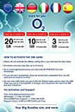 O2 20GB 4G LTE Data in UK and 3G in Europe, with