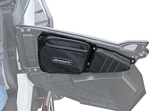 SuperATV Door Bags for Polaris RZR S 900/4 900 / XP 1000 / XP 4 1000 / S 1000 / Turbo / 4 Turbo/Turbo S / 4 Turbo S - Driver and Passenger Sides (1 Pair) - For Use With Stock Doors
