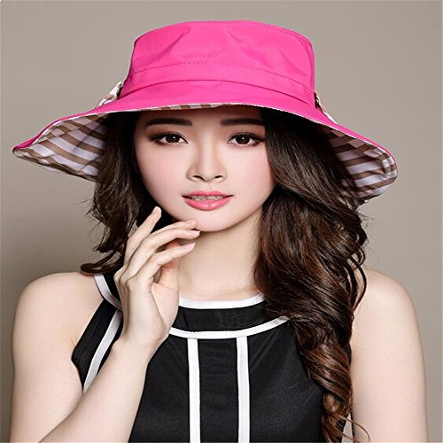 Women Hat Summer Fall Wide Hat Crepe Cap Folding Holiday Sun Hat Sunshade Outdoor Hat Beach Hat Red
