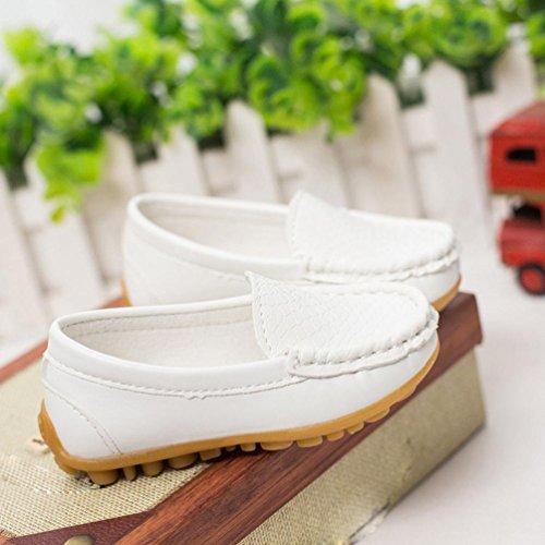 Hunpta Kinder Casual Sneaker Schuhe jungen Sport Sneaker Bootsschuhe Weiß