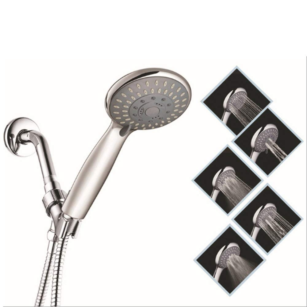 HJM High Pressure Hand Shower Head with Powerful Shower Spray Suitable for Low Pressure Water Supply Pipes Multifunction Bathroom Accessories (Color : #1)