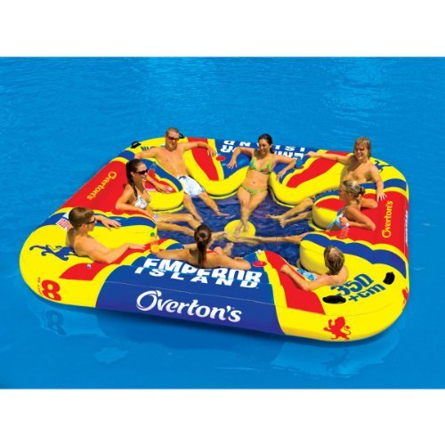 Emperor Island Party Lounge Raft River Lake Dock Inflatable by Overton's