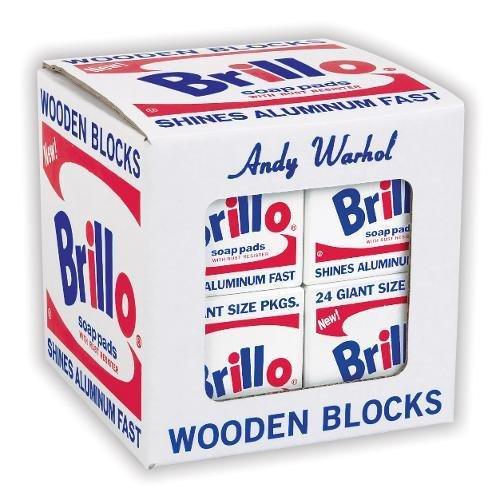 Mudpuppy Andy Warhol Brillo Wooden Blocks (8 Piece)