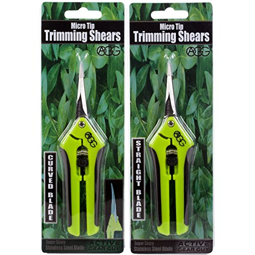 Active Gear Guy Microtip Gardening Trim Scissors Hydroponic, Garden Bonsai Use. One Curved Blade One Straight Blade. Great Tools Precision Pruning Trimming by Active Gear Guy (Image #6)
