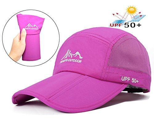 Baseball Cap Quick Dry Travel Hats UPF50+ Cooling Portable Sun Hats for Sports Golf Running Fishing Outdoor Research with Foldable Long Large (Baseball Hat Cap Lid)