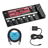 Boss RC-300 Loop Station Pedal - INCLUDES - Blucoil Power Supply Slim AC/DC Adapter for 9 Volt DC 670mA AND 10 Foot XLR Cable