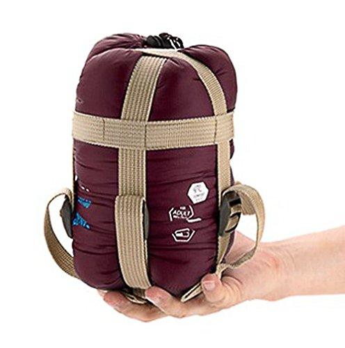- Sunuo Ultra-Light Envelope Travel Sleeping Bags,Outdoor Climbing Camping Portable Thin Waterproof Sleeping Bags (Wine Red)