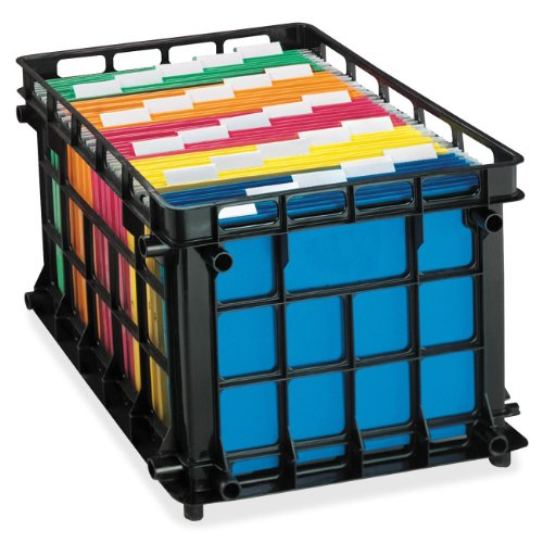 Pendaflex File Crate, Black, 1 crate (Filing Crates)