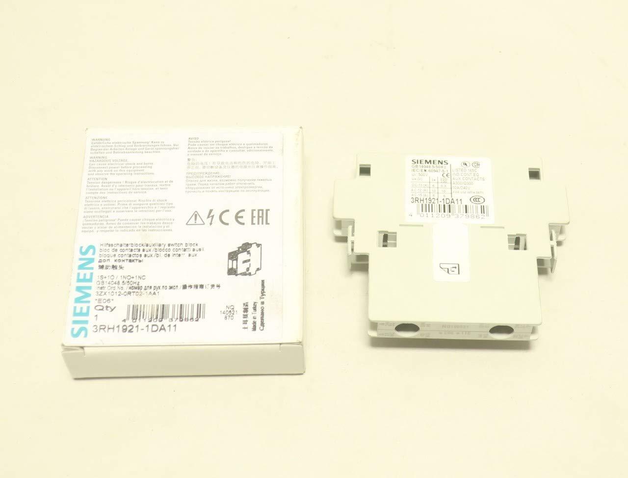 Siemens 3RH1921-1DA11 Hilfsschalterblock unbenutzt